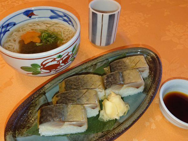 鯖寿司とにゅう麺の画像